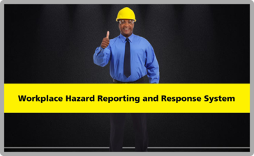 Image of Character holding thumbs up with the title Workplace Hazard Reporting and Response System