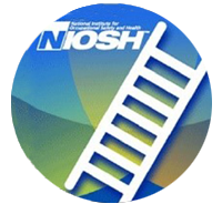 """Image of white icon ladder with title """"NIOSH"""""""