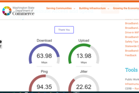 Broadband survey screen capture