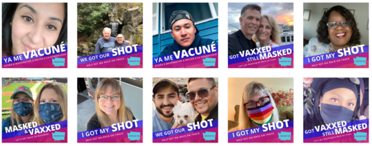 image showing smartWA vaccination messages in multiple languages
