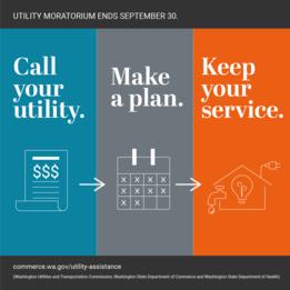 Utility help infographic