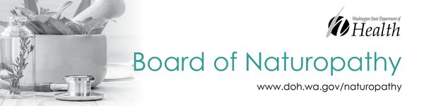 Board of Naturopathy banner