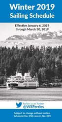 Washington State Ferries sailing schedule cover - winter 2019