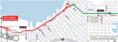 SR 99 closure map