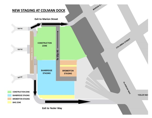 New Staging at Colman Dock
