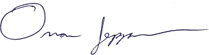 A signature of the name Omar Jepperson.