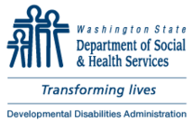 Washington state Developmental Disabilities Administration