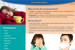 Flu and Pneumonia Care Provider Bulletin