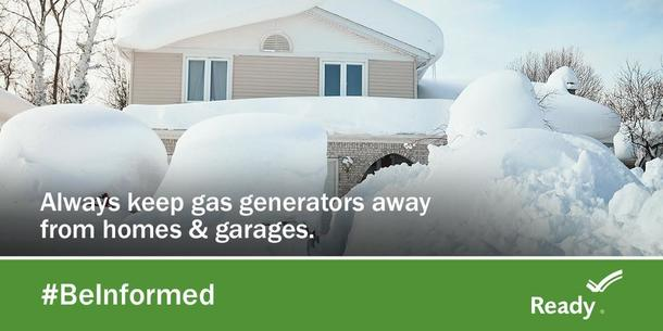Always Keep Generators Away from Homes