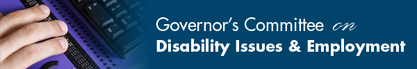 Hand on a Braille display - Governor's Committee on Disability Issues & Employment