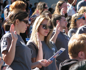 image americorps members at swearing-in ceremony