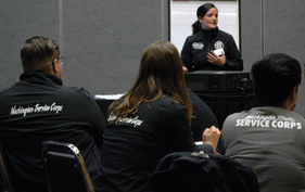image americorps members in training class