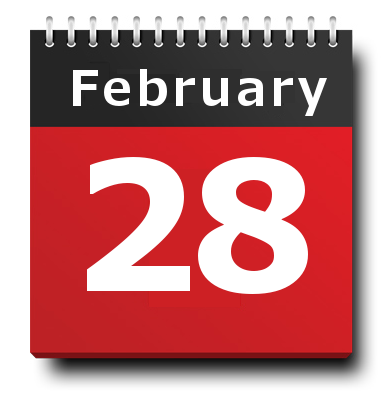 image, calendar date February 28