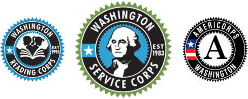 washington service corps logo set