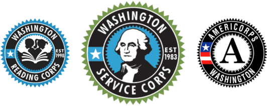 washington service corps logo set