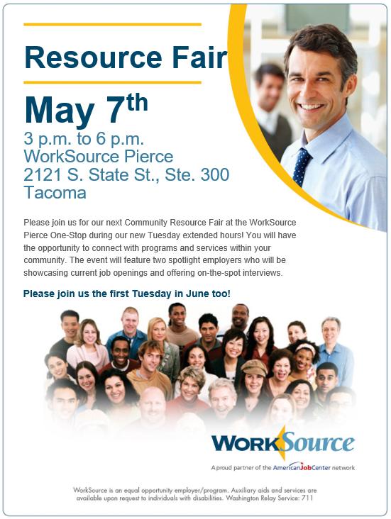 Resource Fair May 7th