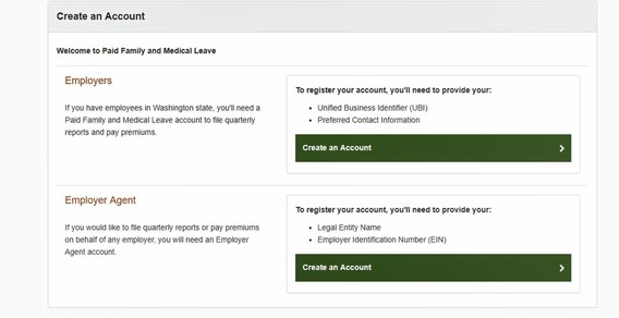 Paid Family and Medical Leave account set-up and POA details