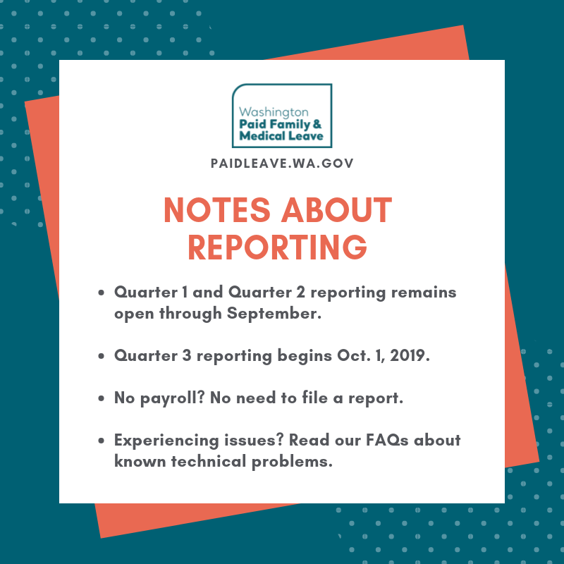Image depicts a bullet point list of reporting tips mentioned in the body of this email