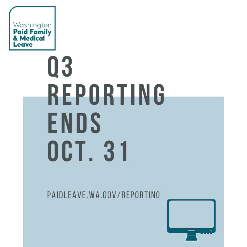 Q3 2019 reporting deadline