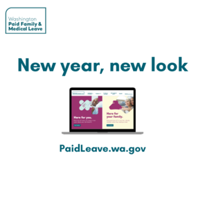 """Image depicts a computer and the words """"new year, new look"""""""