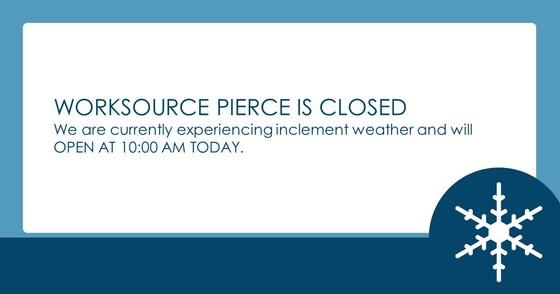 WorkSource Pierce Closure Notice January 14, 2020