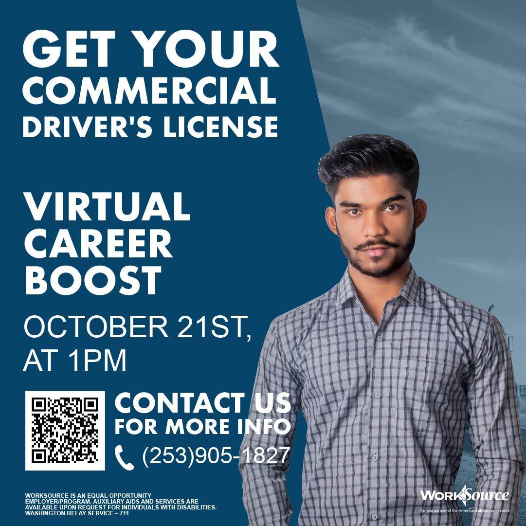 CDL Career Boost flyer
