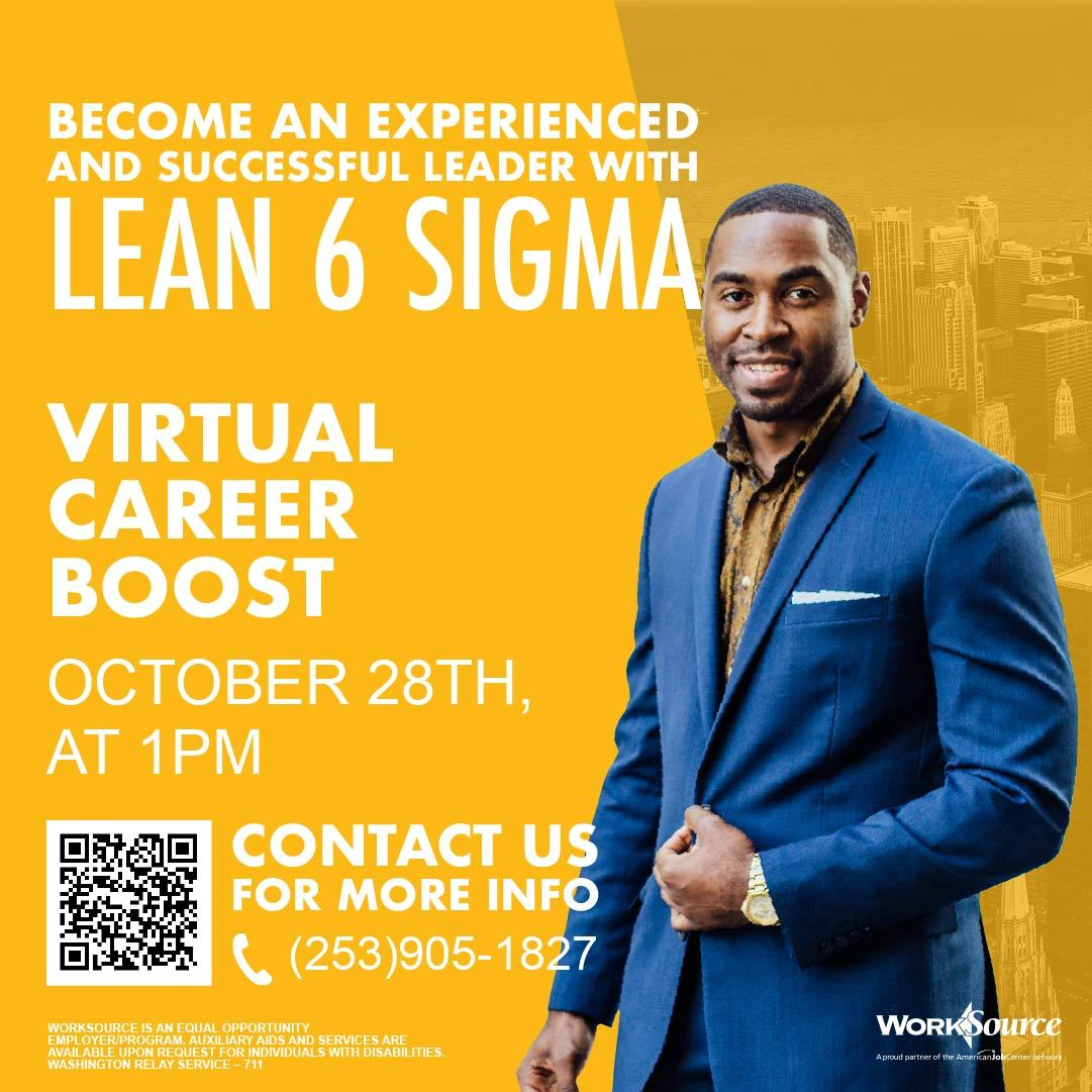 Lean Six Leadership Career Boost flyer