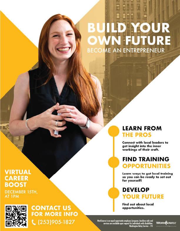 Entrepreneur Career Boost flyer