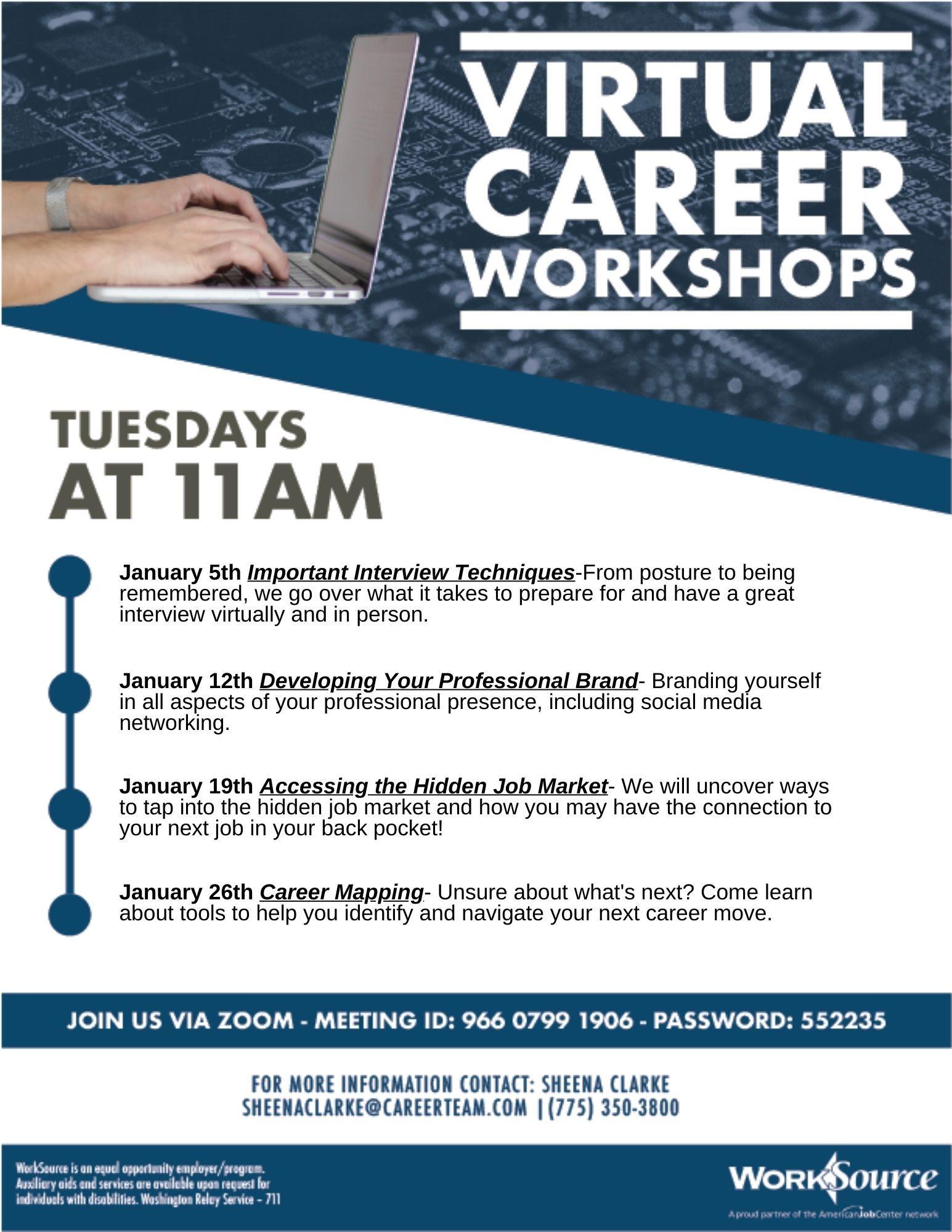 Career Workshops for January 2021 1