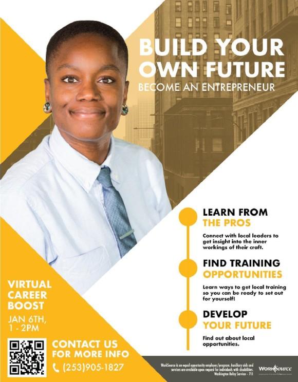 Career Boost Entrepreneurship flyer