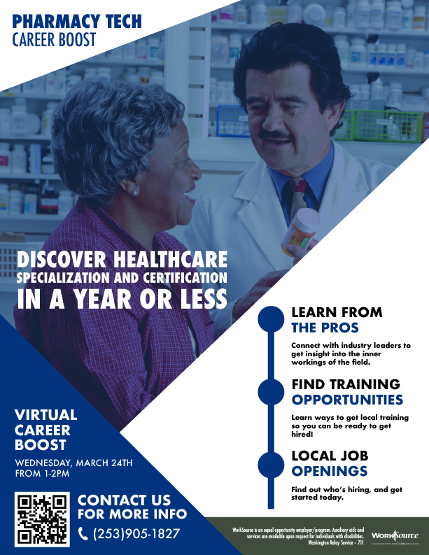 Career Boost Pharmacy Tech flyer