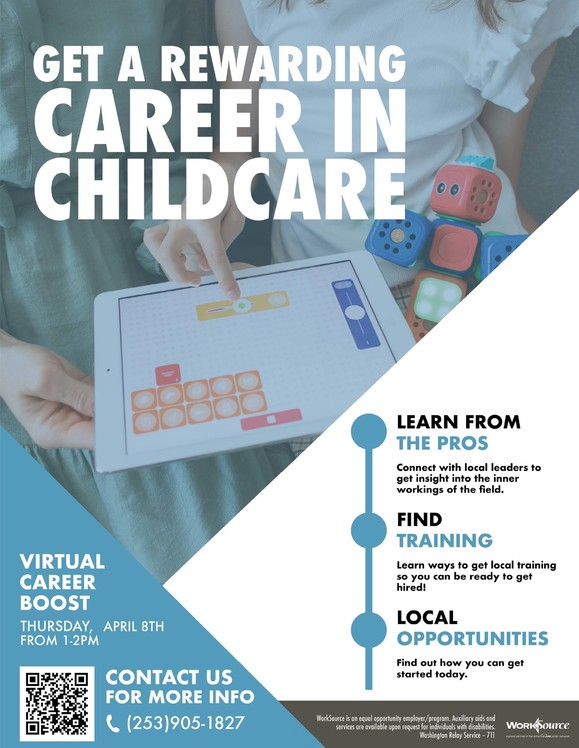Childcare Career Boost flyer