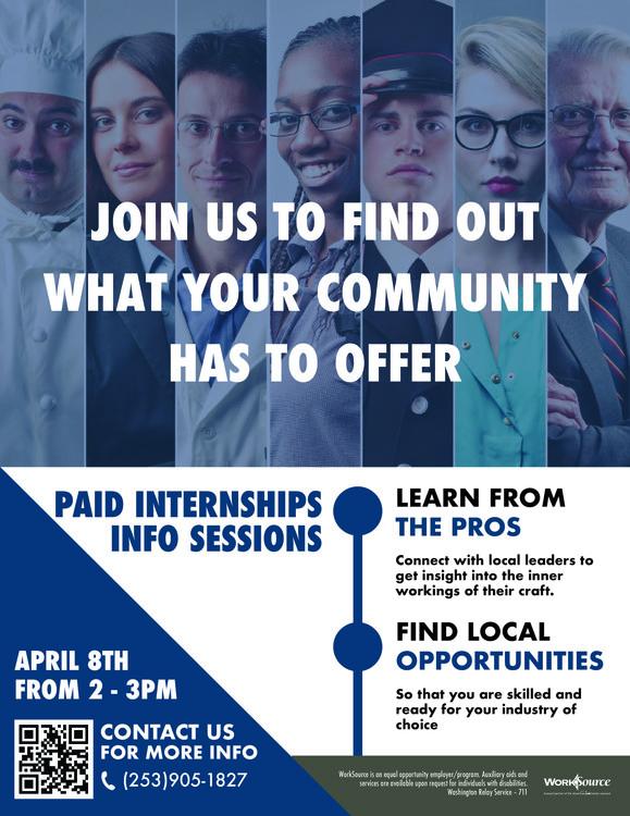 Paid Internship session flyer