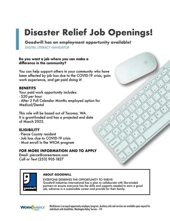 Digital Literacy Navigator job posting