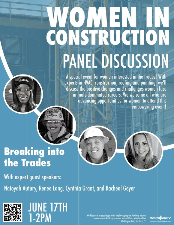 Women in Construction Panel Discussion flyer