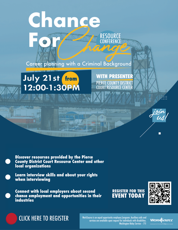 chance for change resource fair flyer