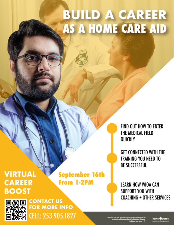 Home Care Aid Career Boost flyer