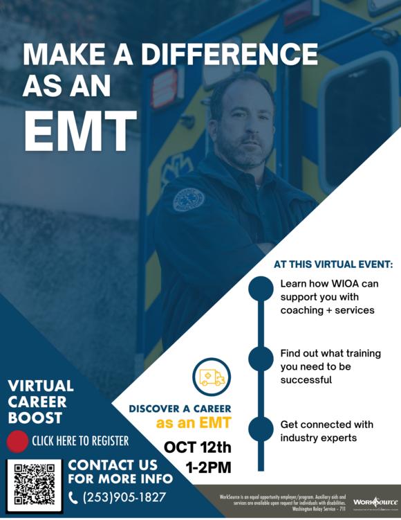 EMT Career Boost flyer