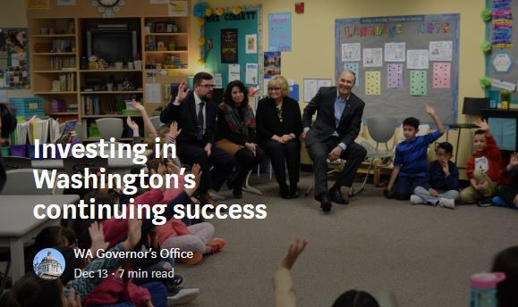 God. Inslee chats with students