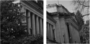 State Legislature building in monochrome