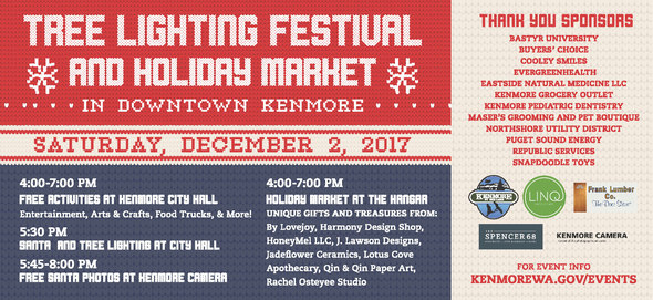 Tree Lighting Festival and Holiday Market