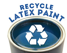 Latex paint recycling