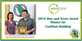 photo of award to Paintcare