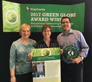 LightRecycle WA Green Globe Award 2017