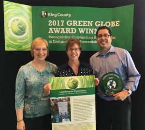 LightRecycle WA Green Globe Award 2017