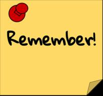 quick reminders
