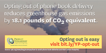 phone book opt out and greenhouse gases