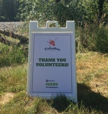 Parks volunteer thank you