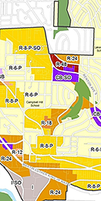 Detail of Skyway/West Hill zoning map