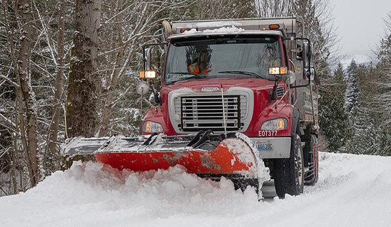 Snow plow, Feb. 2019